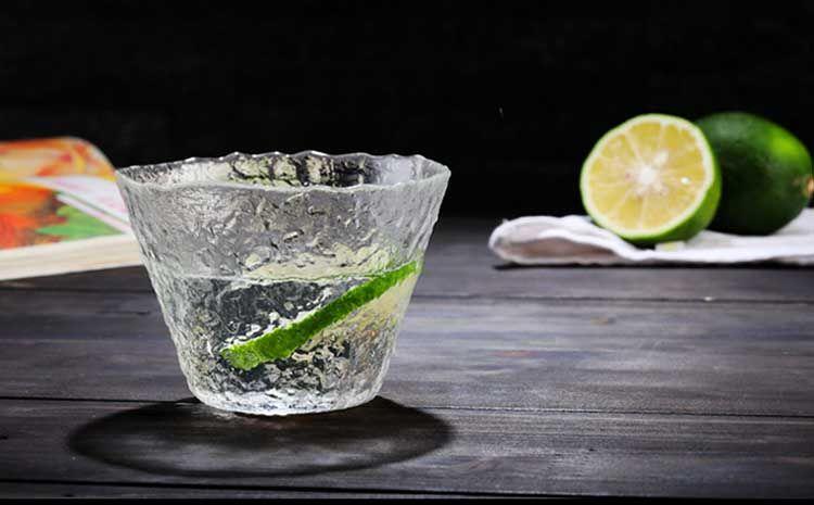 初雪玻璃杯