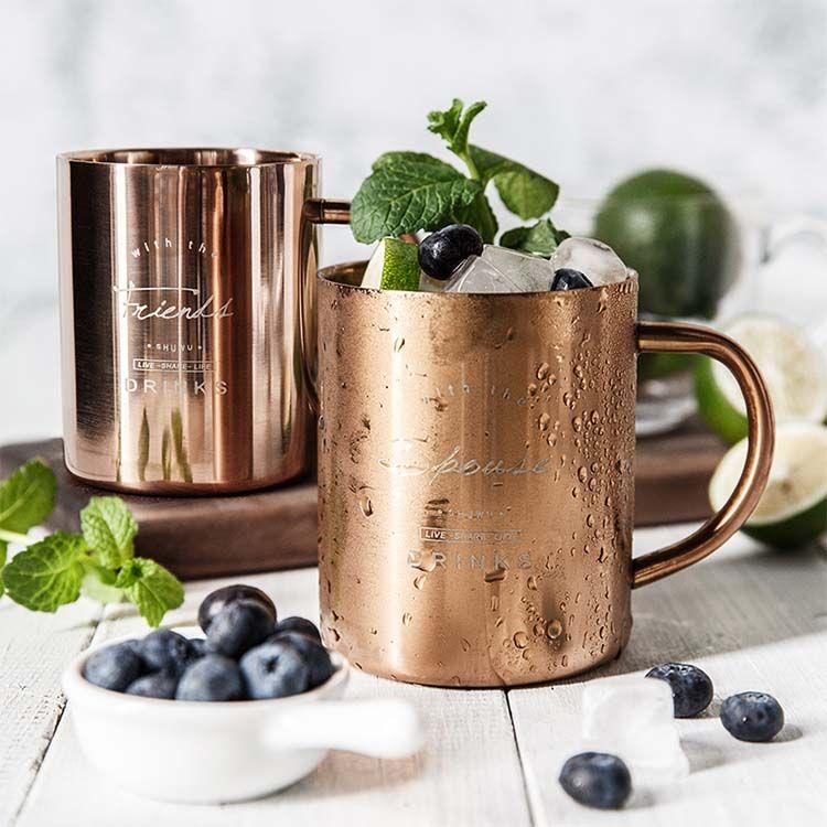 复古镀铜马克杯