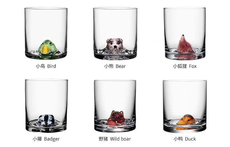 KostaBoda动物造型玻璃杯