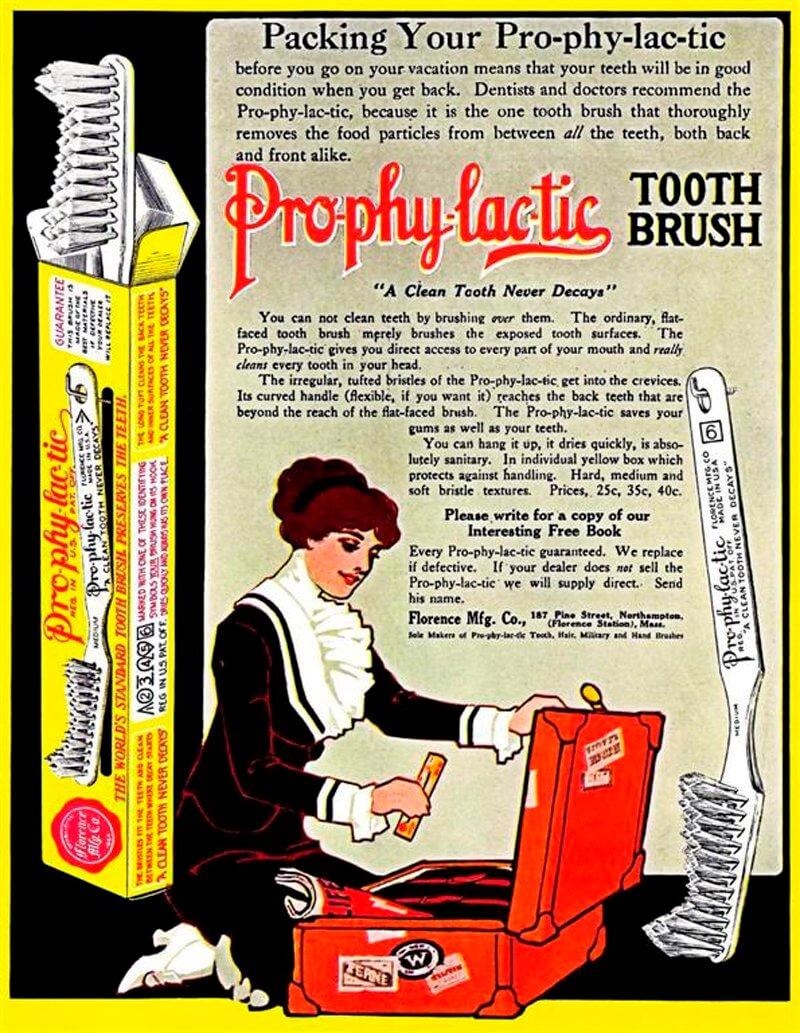 1913年的牙刷广告
