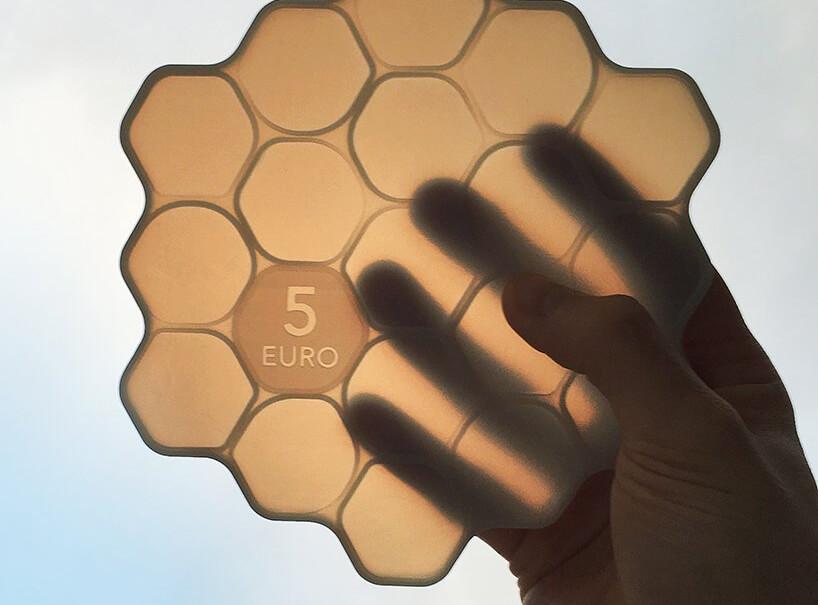 拉脱维亚「蜂巢式」5 欧元,颠覆以往你对硬币的认知
