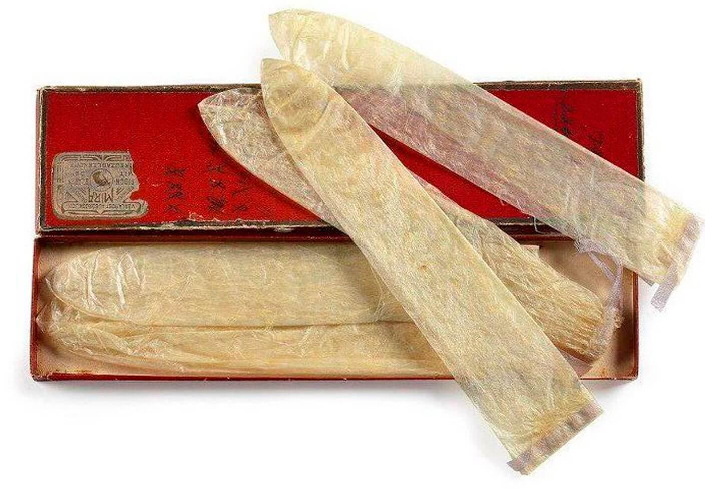 18世纪用动物肠子制作的避孕套