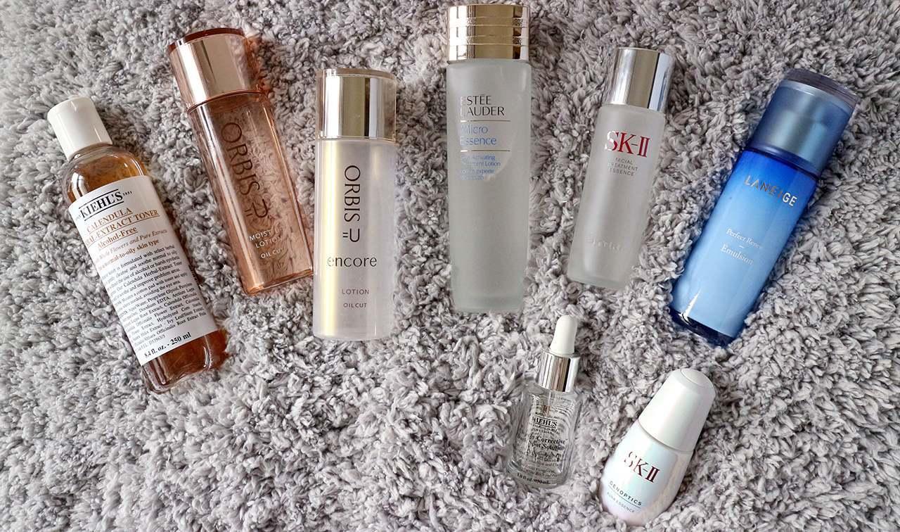 15种化妆水与精华液、乳霜心得