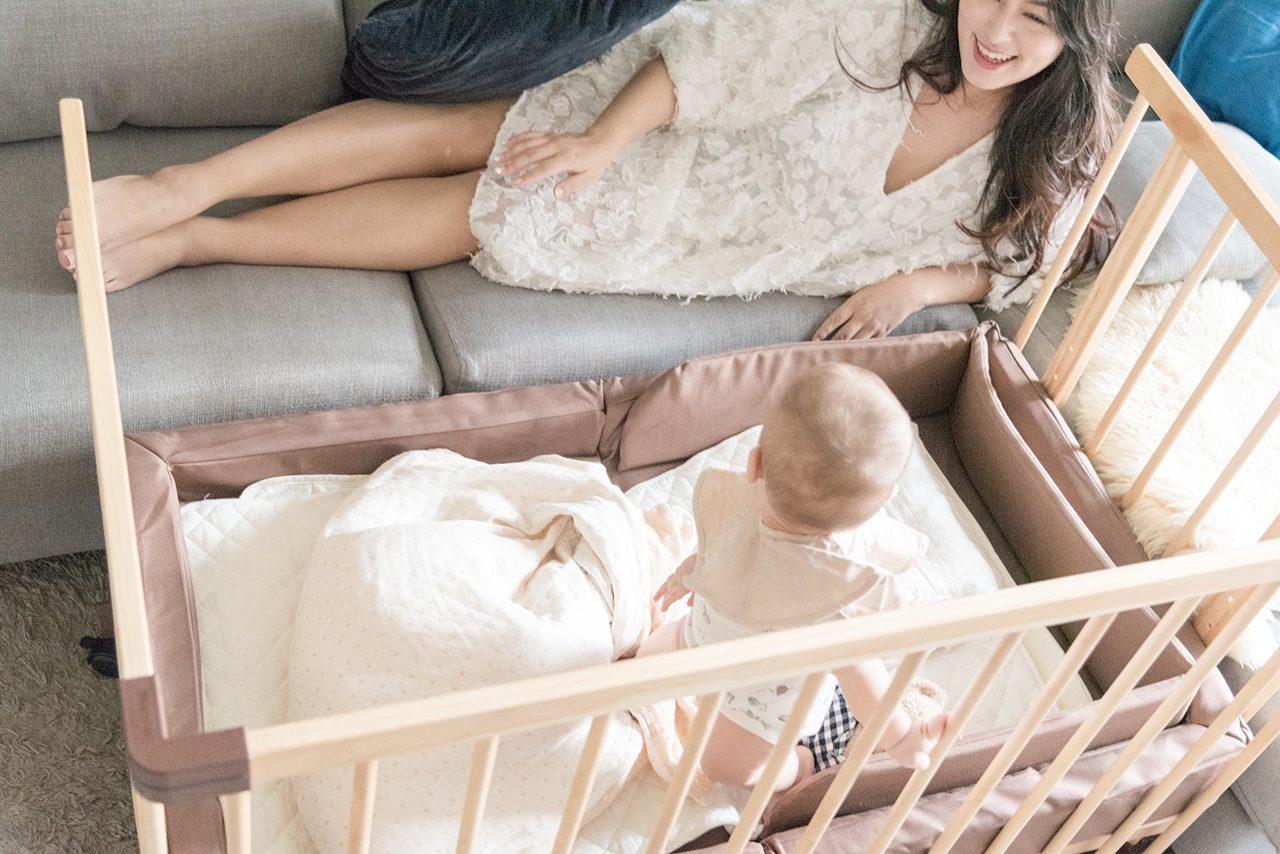 farska婴儿床父母床边床