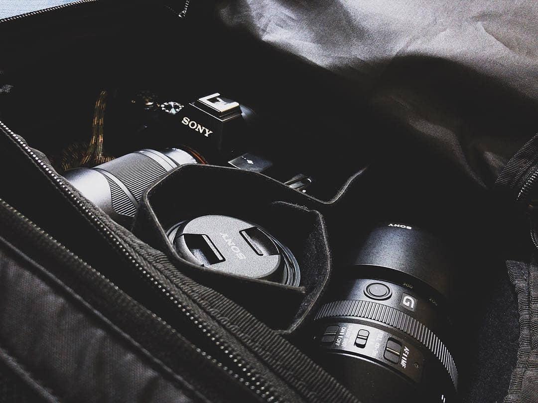 相机和背包