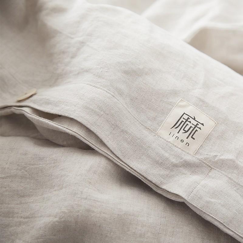 亚麻面料的床单