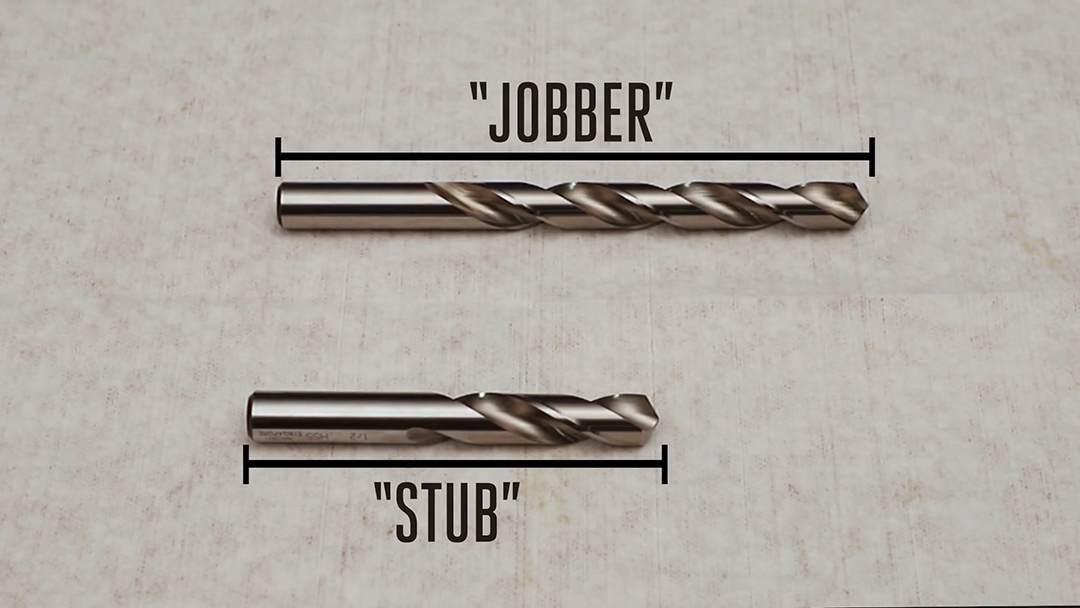 不同长度的麻花钻